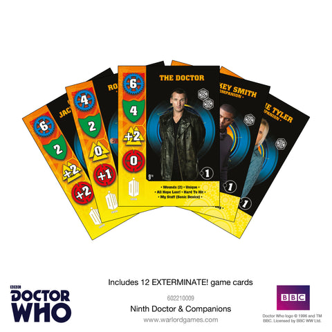 Ninth doctor cards