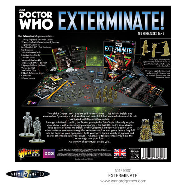 exterminate the miniatures game doctor who into the time vortex
