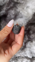Load and play video in Gallery viewer, Black Mesh Ring, Black Statement Ring, Silver Swarovski Ring, Black Ring, Sparkly Ring,- Topaz Jewelry