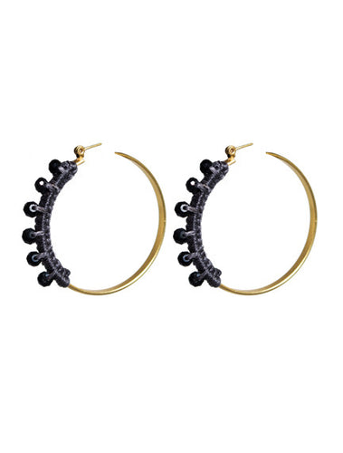 Blue Crystal Hoop Earrings - Topaz Jewelry