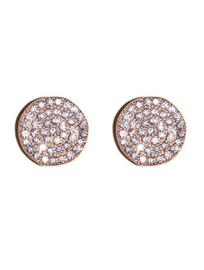 Rose Gold Pave Post Earrings - Topaz Custom Jewelry