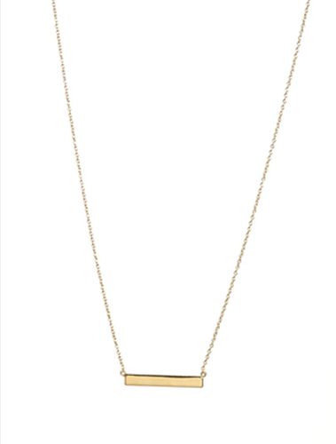 Gold Bar Necklace - Topaz Jewelry