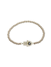 Load image into Gallery viewer, Gold Hamsa Stretch Bracelet - Topaz Jewelry
