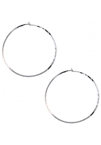 Large Thin Hoop Earrings - Topaz Jewelry