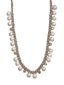 Knotted Pearl Necklace - Topaz Custom Jewelry