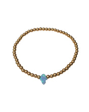 Load image into Gallery viewer, Opal Hamsa Bracelet - Topaz Custom Jewelry