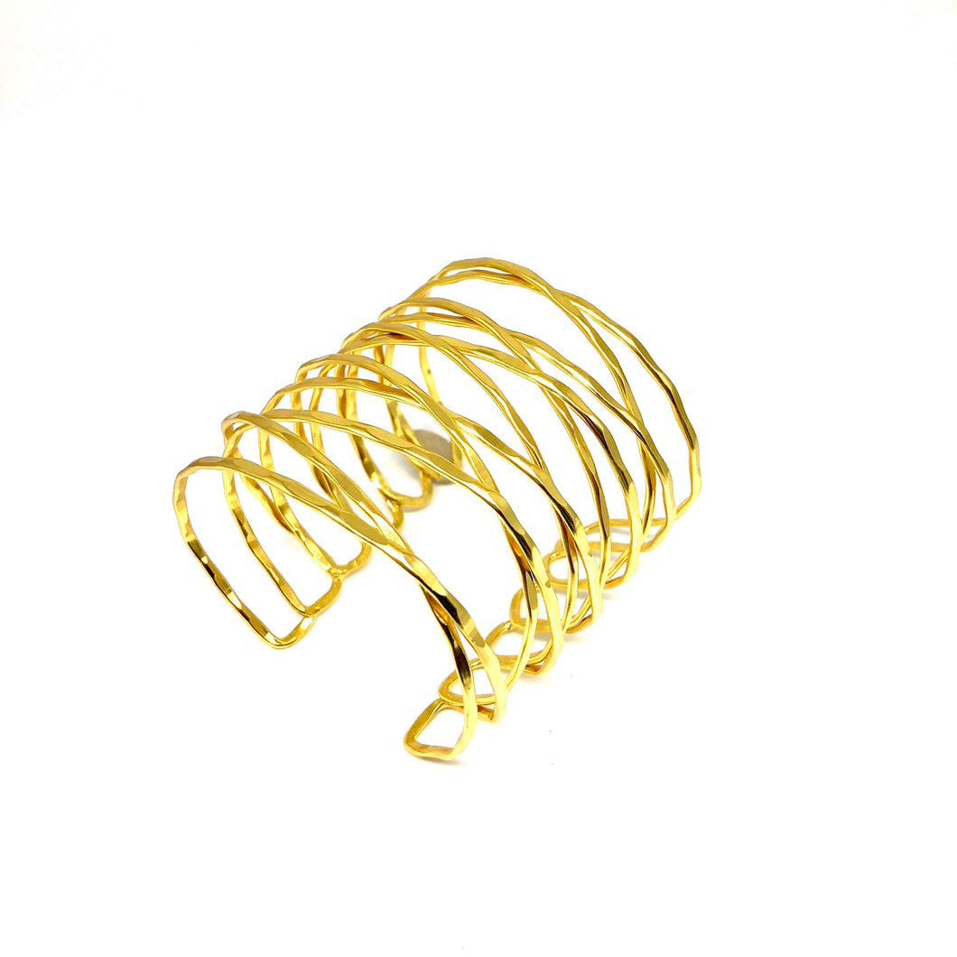 Statement Gold Cuff,Gold XXX Cuff - Topaz Jewelry