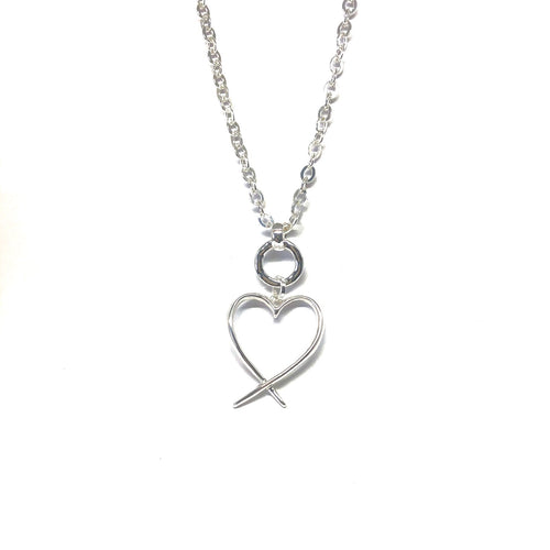 Ann Heart Necklace - Topaz Custom Jewelry