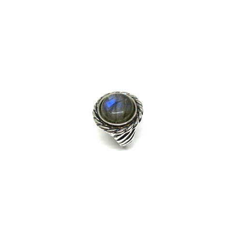 Twisted Cable Labradorite Ring - Topaz Jewelry