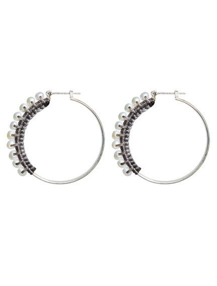 pearls Hoop Earrings,Topaz Jewelry