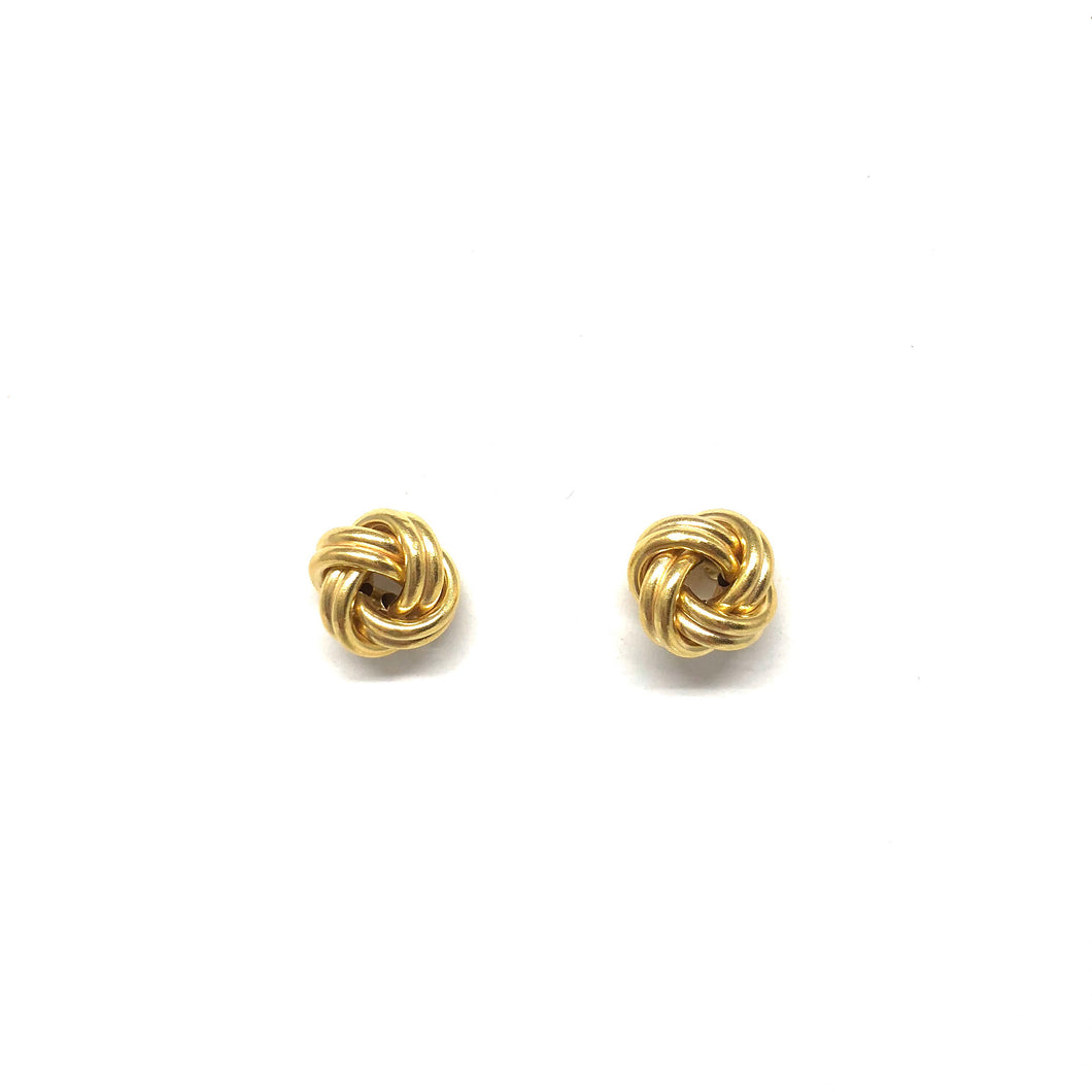 Gold Love Knot Earrings - Topaz Custom Jewelry