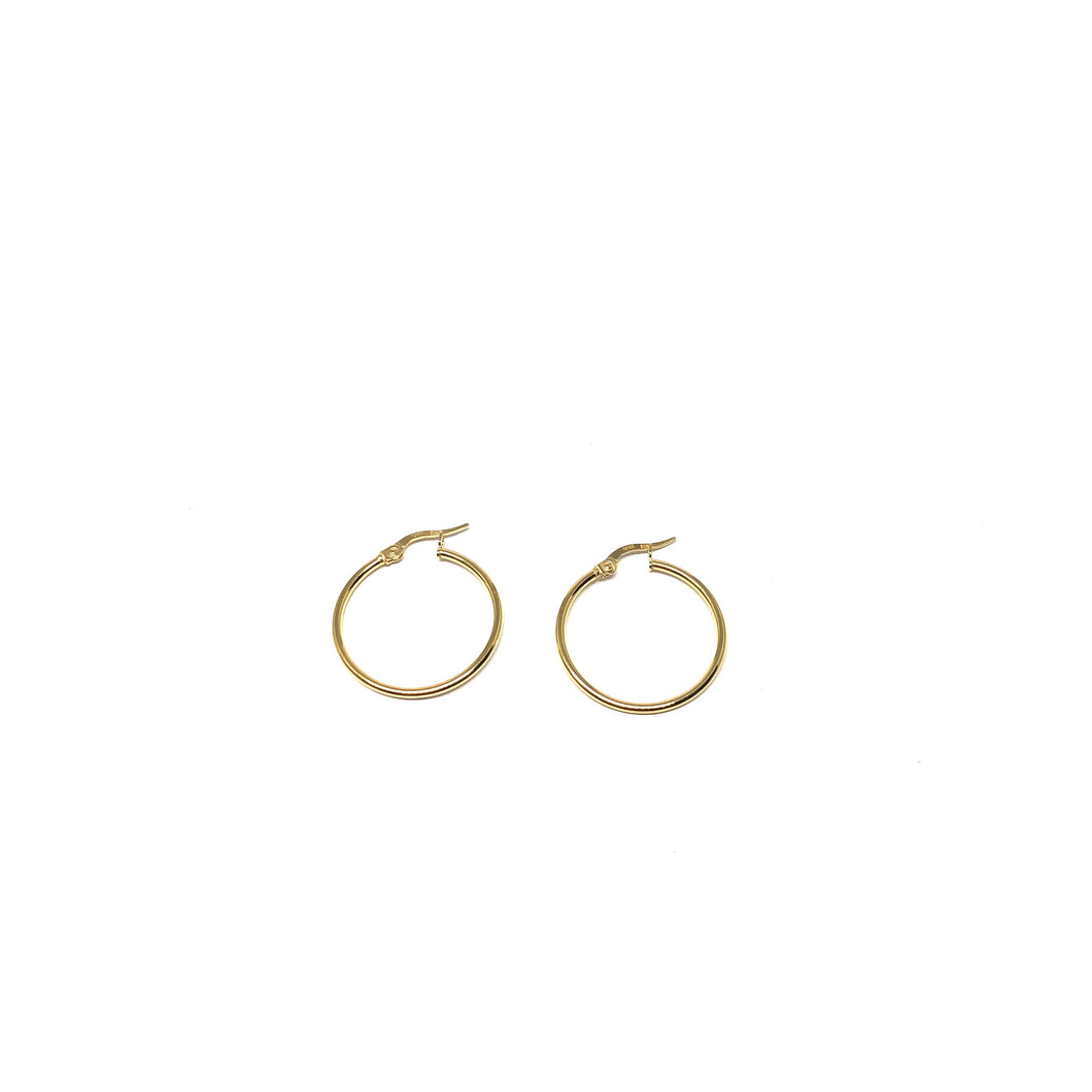 Thin Gold Hoop Earrings,10K Gold Hoops Earrings,Gold Hoops - Topaz  Jewelry