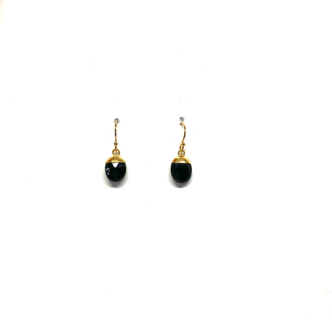Black Drop Earrings - Topaz Custom Jewelry