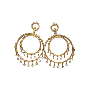 Gold Statement Earrings,Topaz Jewelry