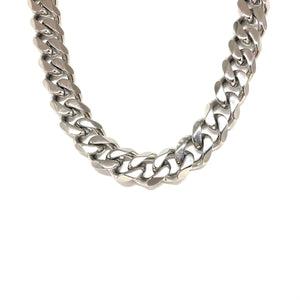 Woman Stainless Steel Cuban Chain,Chunky Stainless Steel Link Chain,Statement Cuban Link Chain,Topaz Jewelry