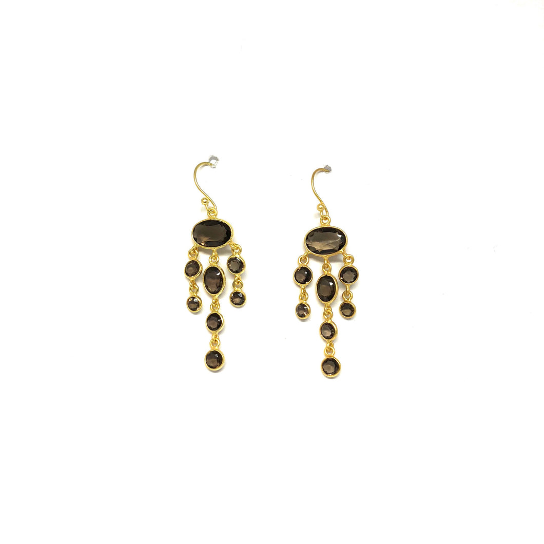 Smoky Chandelier Earrings - Topaz Custom Jewelry