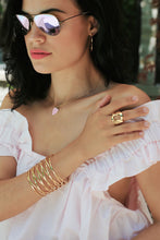 Load image into Gallery viewer, Gold Link Statement Ring,Gold Stretch Ring,Ring - Topaz Jewelry