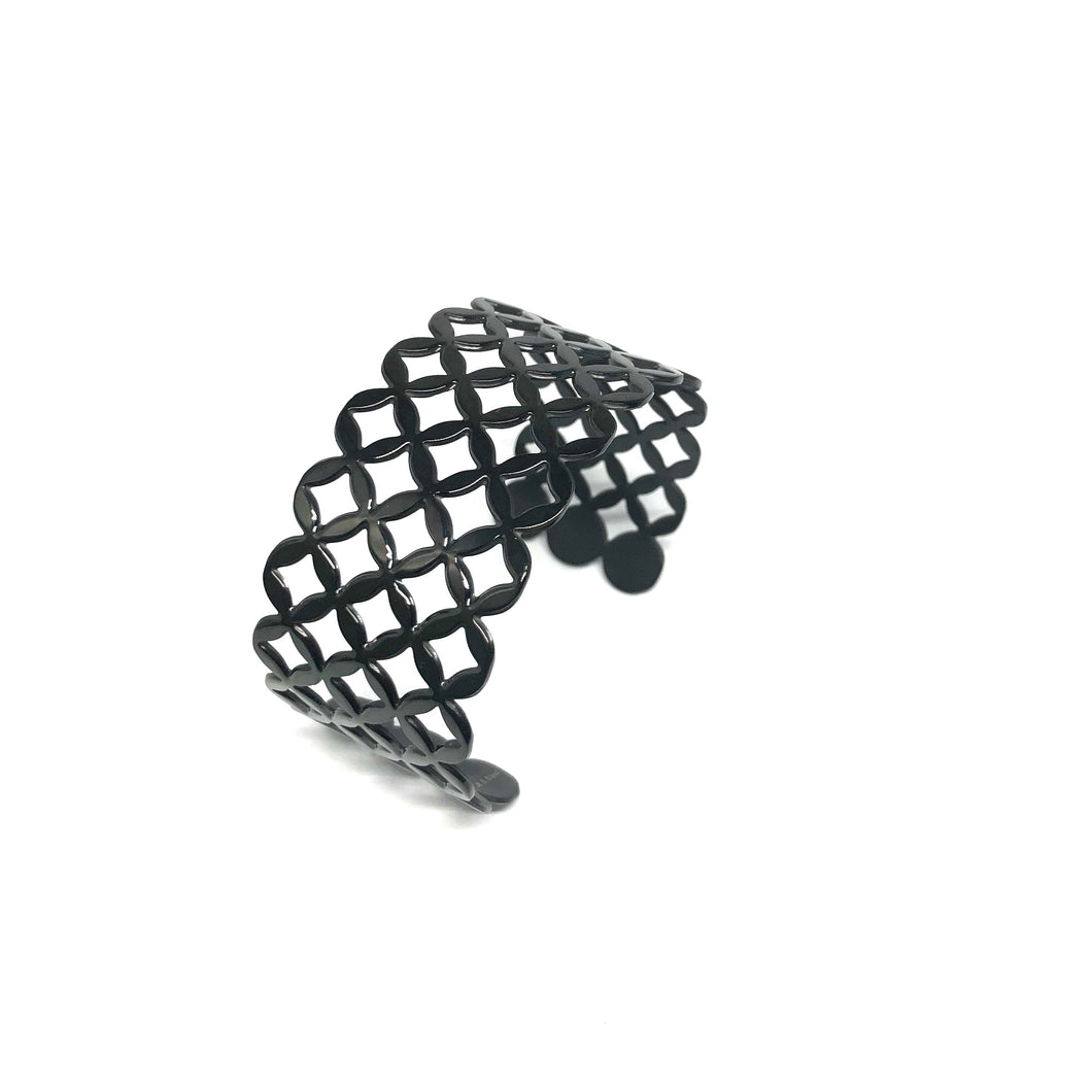 Black Filigree Cuff - Topaz Custom Jewelry