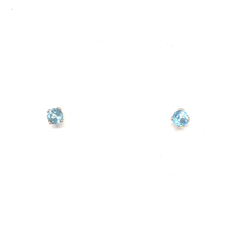 Blue Topaz Stud Earrings - Topaz Custom Jewelry