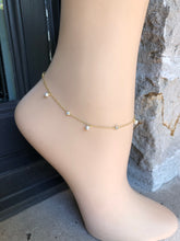 Load image into Gallery viewer, Pearl Anklet,Dainty Pearls Anklet,Topaz Jewelry
