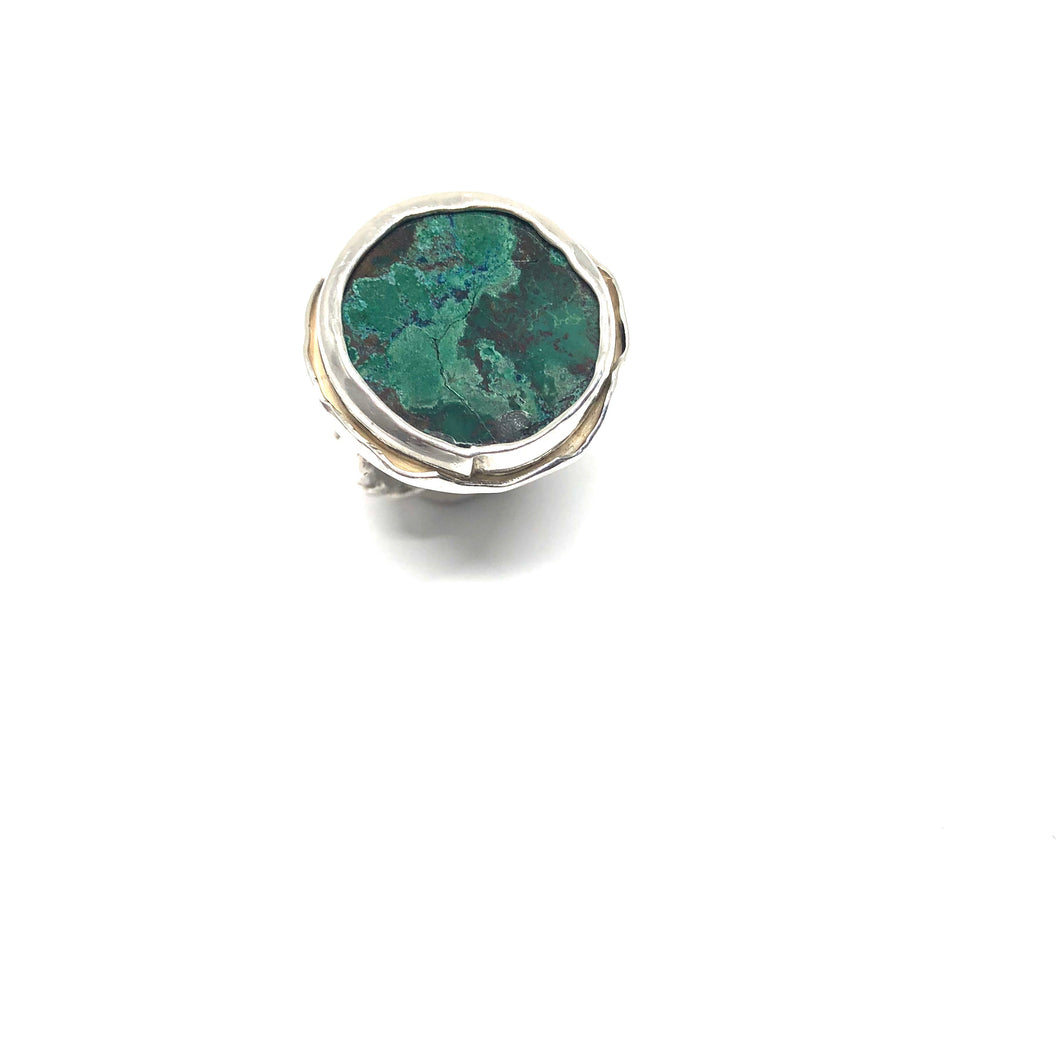 Chrysocolla Ring - Topaz Custom Jewelry