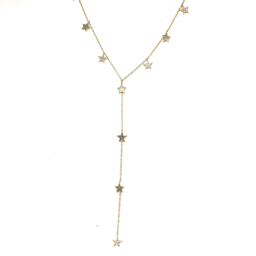 Star Lariat Necklace - Topaz Jewelry