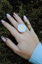 Load image into Gallery viewer, Tonnie Ring,Tonnie Coin Ring,Canada Coin Ring,Topaz Jewelry