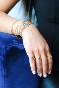 Gold Plated Snake Ring,Izzy Snake Ring - Topaz Jewelry
