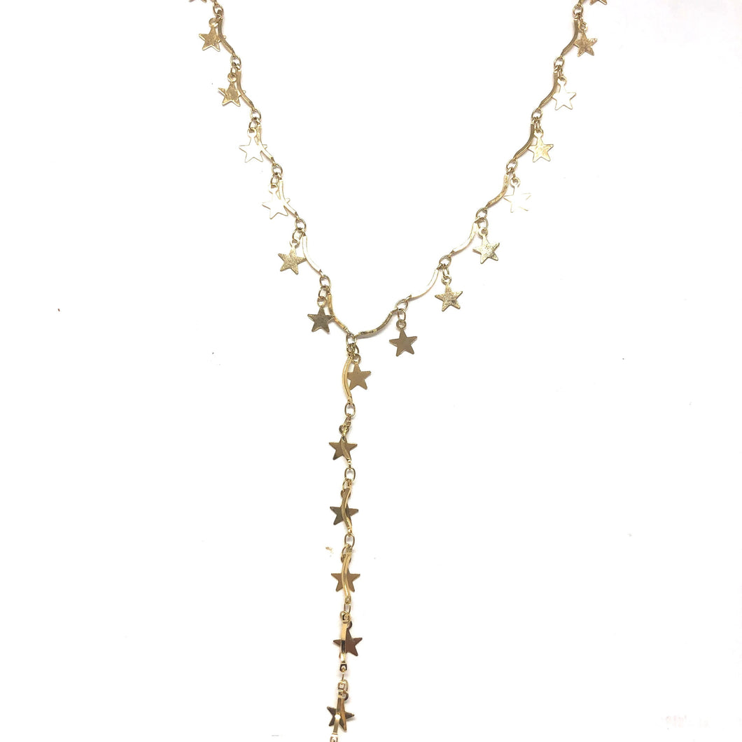 Stars Lariat Necklace - Topaz Custom Jewelry
