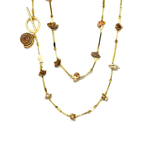 Luisa Shell Necklace - Topaz Custom Jewelry
