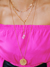 Load image into Gallery viewer, Initial S Lariat Necklace