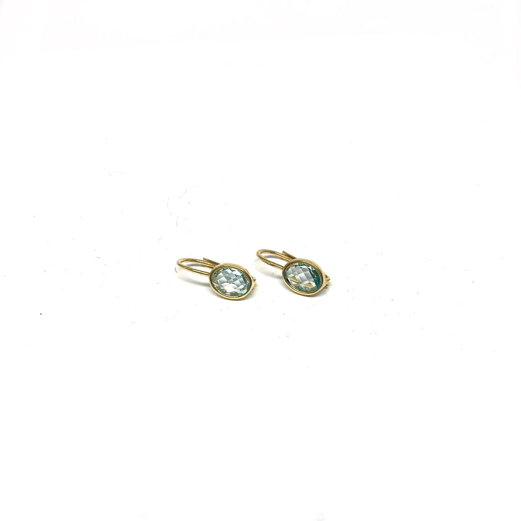 Blue Topaz Earrings - Topaz Custom Jewelry