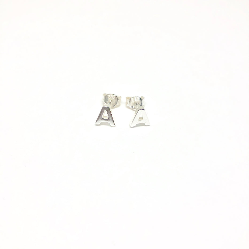 Initial A Studs Earrings - Topaz Jewelry