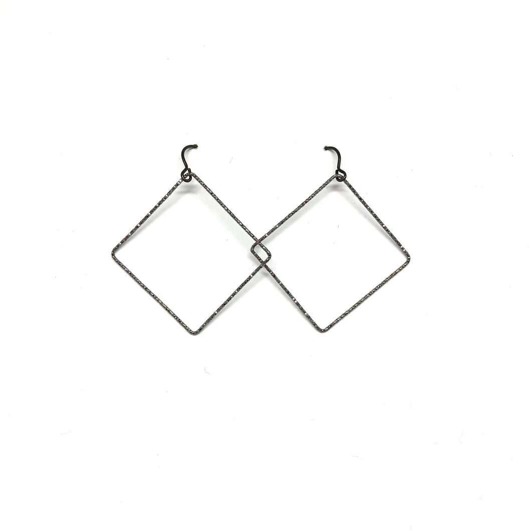Black Square Earrings - Topaz Jewelry Toronto
