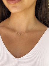 Load image into Gallery viewer, 10K Infinity Necklace,Solid Gold Infinity Necklace - Topaz Jewelry