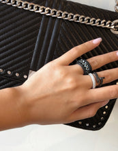 Load image into Gallery viewer, Black Nail Ring, Pave Black Cz Nail Ring - Topaz Jewelry