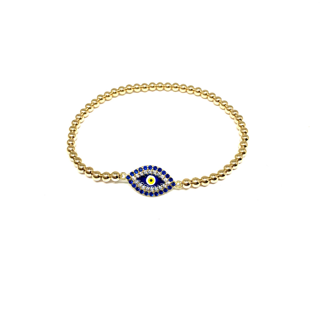 Evil Eye Stretch Bracelet - Topaz Custom Jewelry