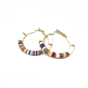 Multi Color Hoop Earrings - Topaz Jewelry