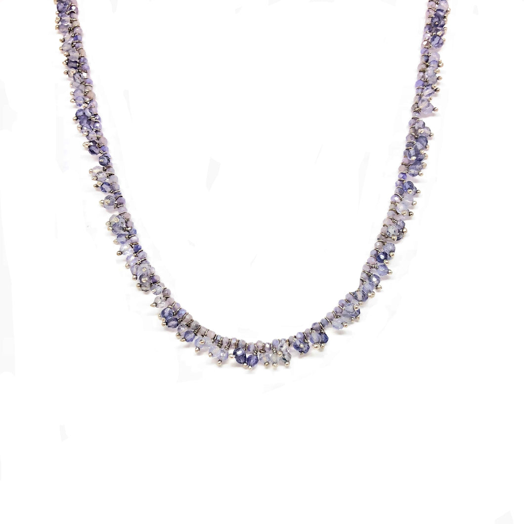 Iolite Necklace - Topaz Custom Jewelry