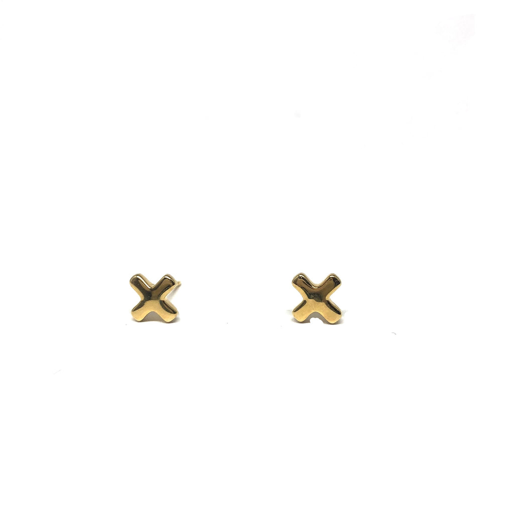 X Stud Earrings - Topaz Custom Jewelry