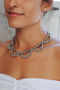 Silver Statement Necklace,Serenity Necklace - Topaz Jewelry