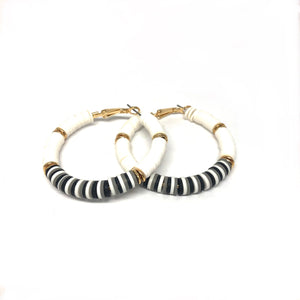 Black & White  Hoop Earrings - Topaz Jewelry