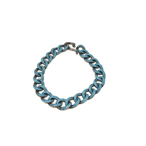 Turquoise Cuban Links Bracelet - Topaz Jewelry