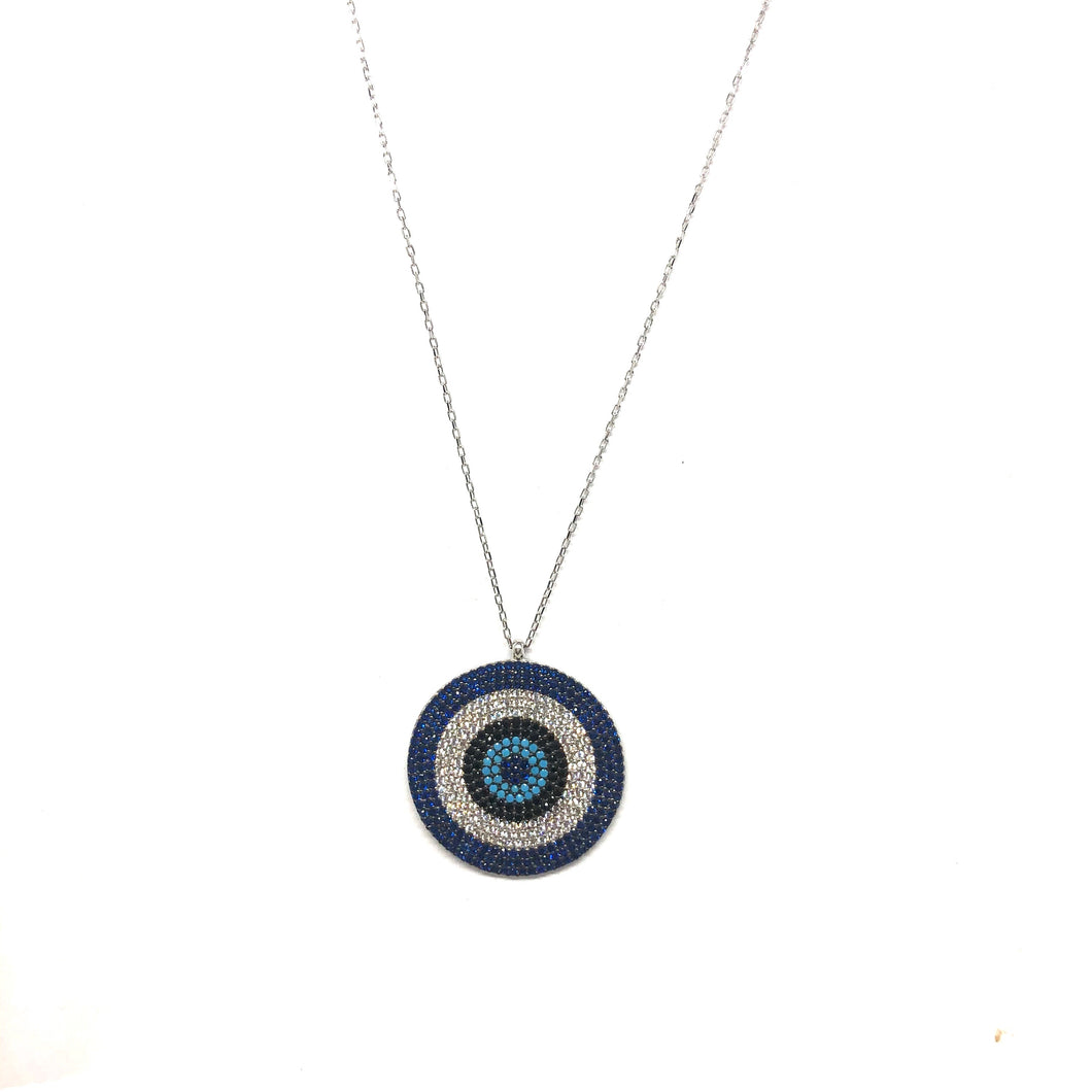 Mandy Eye Necklace - Topaz Custom Jewelry