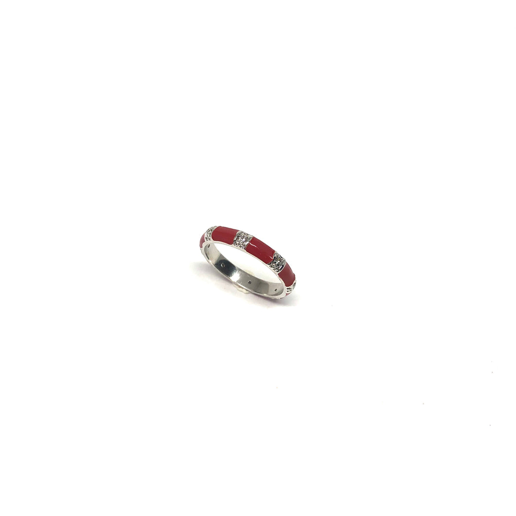 Thin Enamel Rings,Colorful Enamel Ring,Red Stackable Enamel Ring,Topaz Jewelry