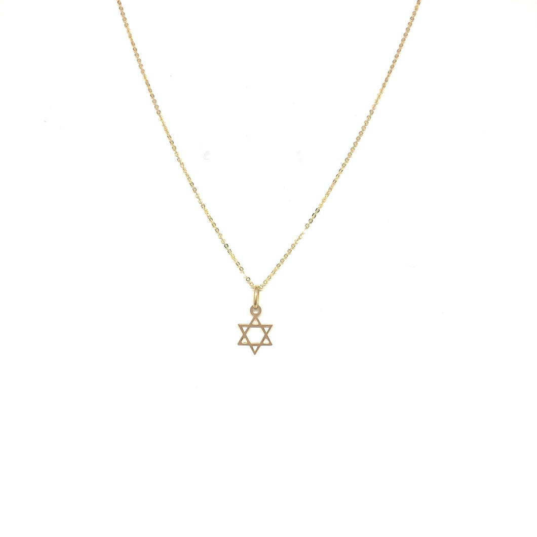 Star of David Necklace - Topaz Custom Jewelry