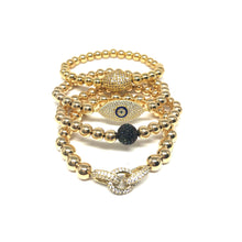 Load image into Gallery viewer, Large Pave Evileye Bracelet - Topaz Custom Jewelry