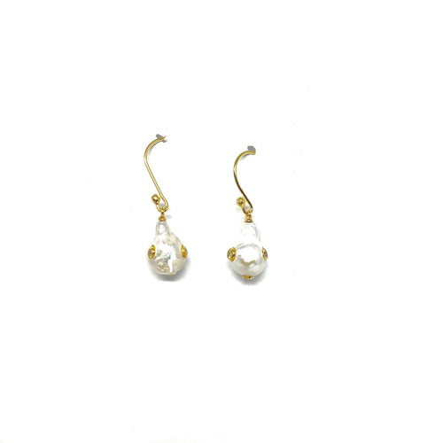 Baroque Pearls Earrings - Topaz Custom Jewelry