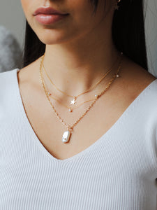 Toggle Pear Necklace ,Baroque Pearl Necklace - Topaz Jewelry