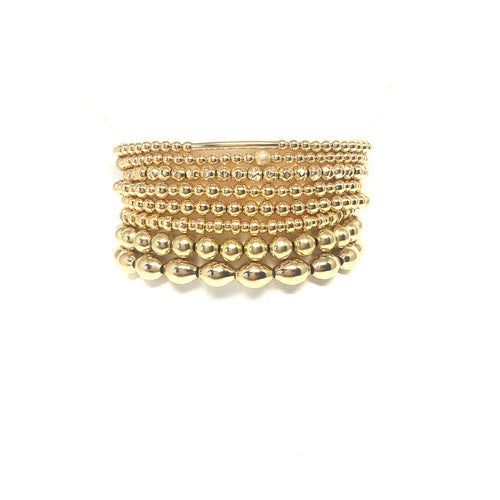Gold Filled Stretch Bracelet,Stackable Balls Bracelet,Topaz Jewelry